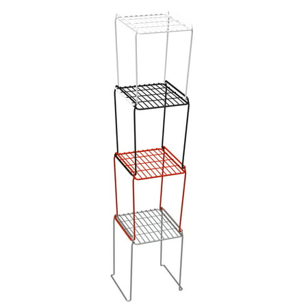 Panacea Locker Stacking Shelf, Black (Tall Locker Shelf)