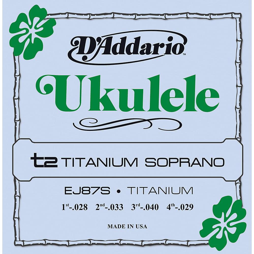 D'Addario EJ87S Titanium Soprano Ukulele Strings