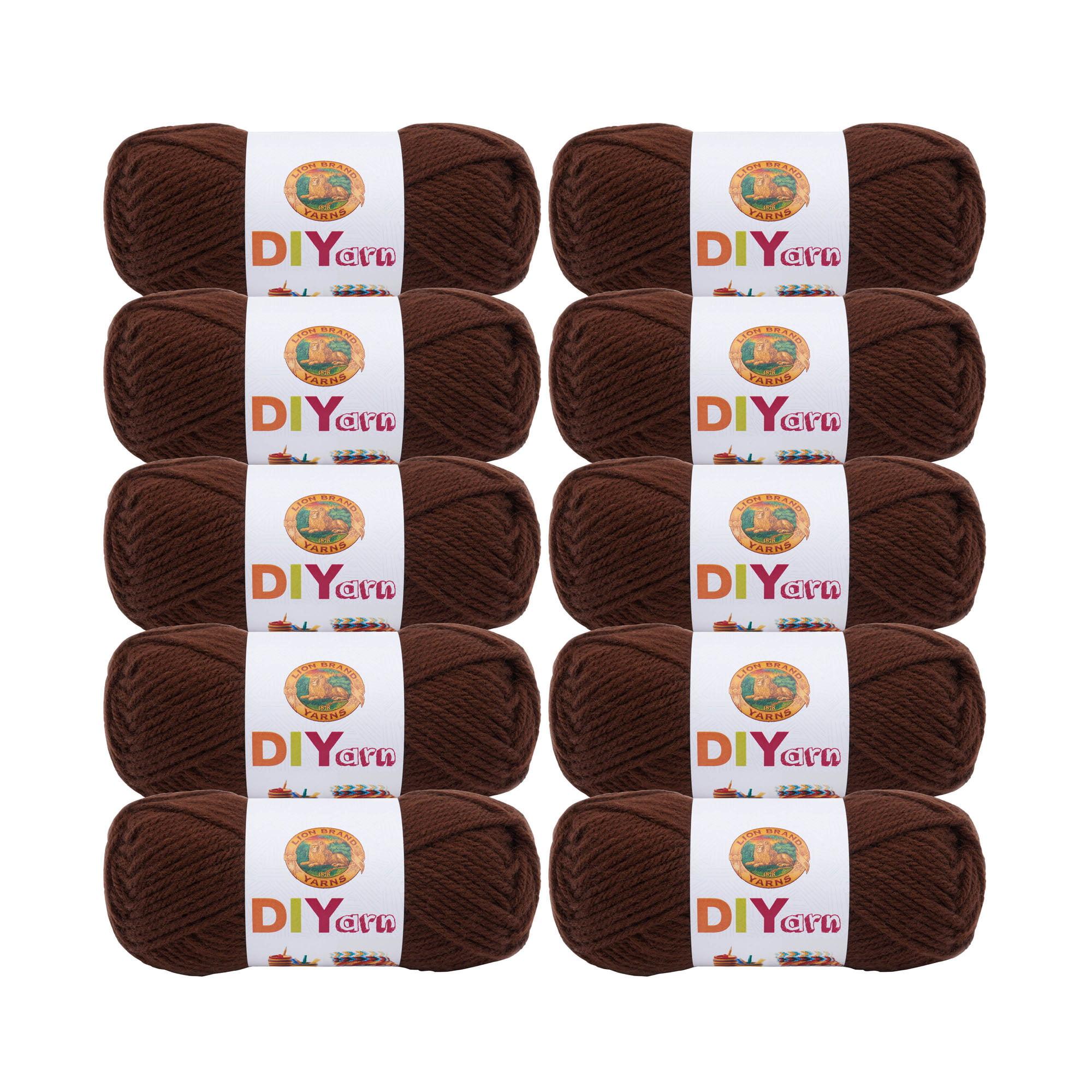 Lion Brand DIYarn Brown 205-126 Craft Yarn