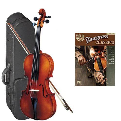 Strunal 260 Student Violin Bluegrass Classics Play Along Pack - 1/4 Size European Violin w/Case & Play Along Book