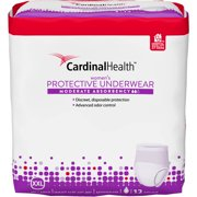 Cardinal Health Moderate Absorbency Women's Protective Underwear, Extra Extra Large, 12 count