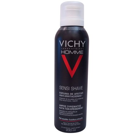 Vichy Homme Sensi Shave Shaving Mousse Anti-Reaction, 200 ml.