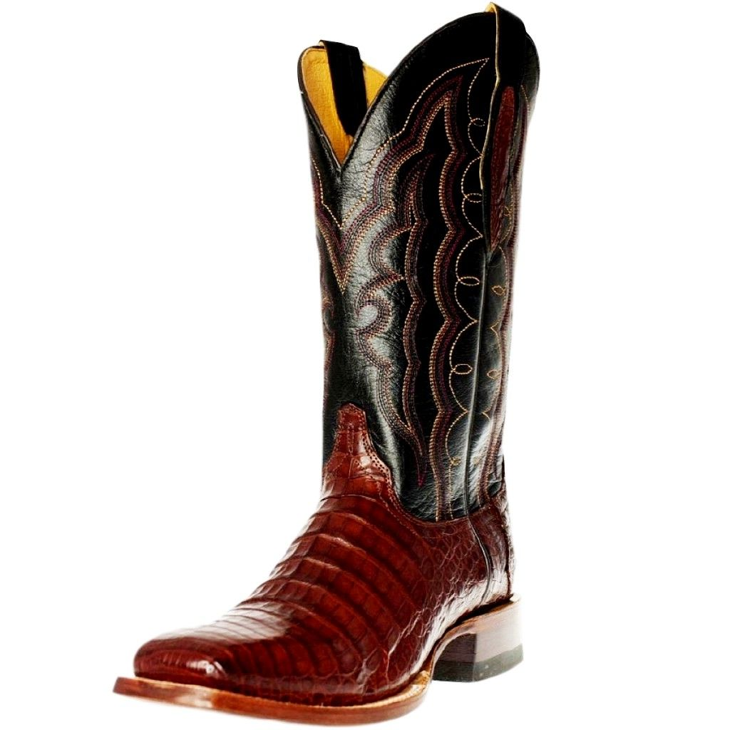 Cinch Western Boots Mens Caiman Belly Cowboy Square Toe Redwood CFM561