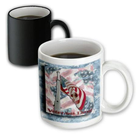 Veterans Day Flag (3dRose Flag on Pole Veterans Day, Magic Transforming Mug,)