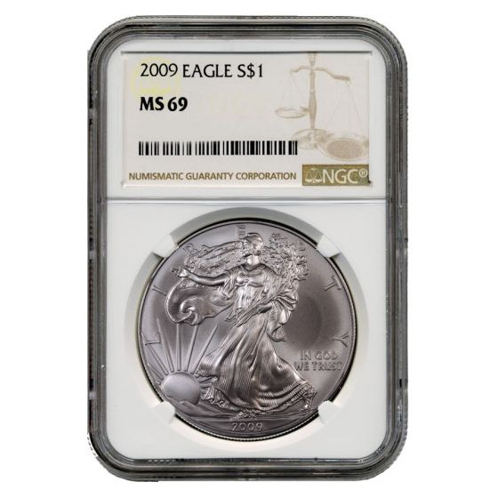 2009 American Silver Eagle NGC MS-69 1 oz Coin