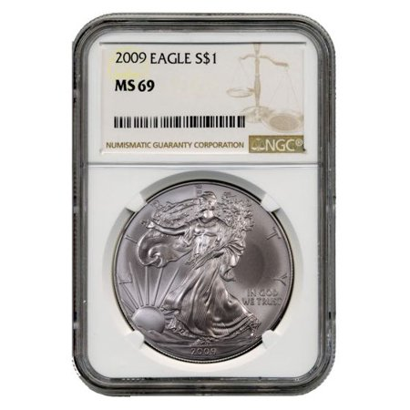 2009 American Silver Eagle NGC MS-69 1 oz - Ngc Ms62 Gold Coin
