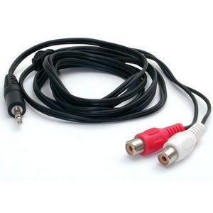 StarTech MU1MFRCA StarTech.com 6 ft Stereo Audio Cable - 3.5mm Male to 2x RCA Female - Mini-phone Male - RCA Female - 6ft - Black