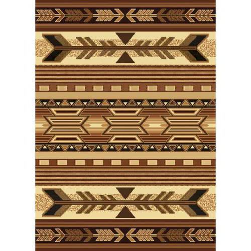 "United Weavers Elements Native Lodge Woven Polypropylene Area Rug, Beige, 5'3"" x 7'2"""