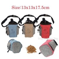 Portable Puppy Pet Food Carries Pouch Dispenser Training Treat Bag Dog Snack Storage Holder