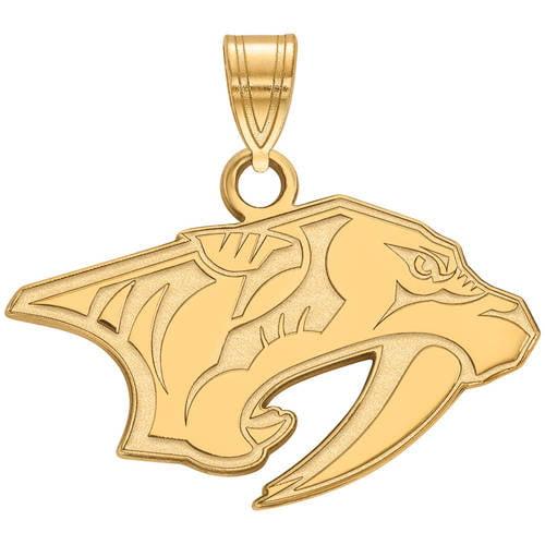 LogoArt NHL Nashville Predators 14kt Gold-Plated Sterling Silver Small Pendant