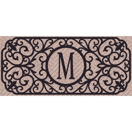 Filigree Monogram Embossed Sassafras Switch Mat, Letter -