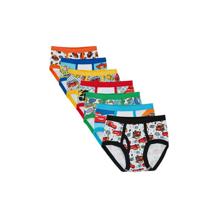 Cotton Lycra Boy Brief - Cars, Toy Story & Monsters Inc. Brief Underwears, 7-Pack (Toddler Boys)