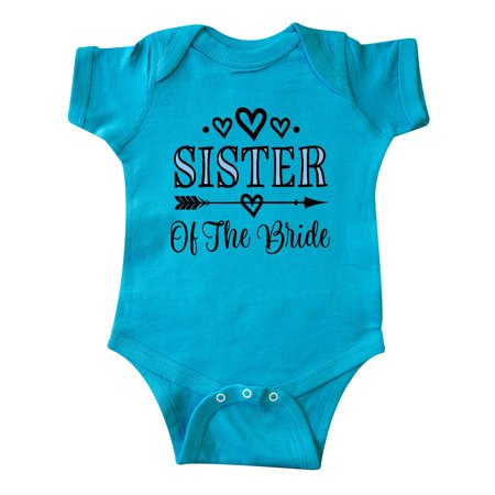Sister Of The Bride Wedding Party Infant Creeper (Bride Onesie)