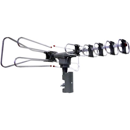 Supersonic HDTV Outdoor Amplified Antenna, 360-Degree Remote Motorized Rotating,120 miles range