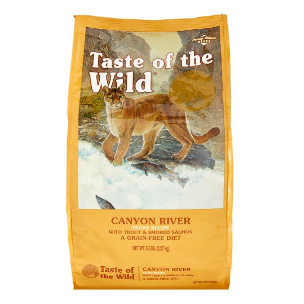 Taste of the Wild Grain-Free Trout & Smoked Salmon Canyon River Dry Cat Food, 5 lb - Walmart.com ...