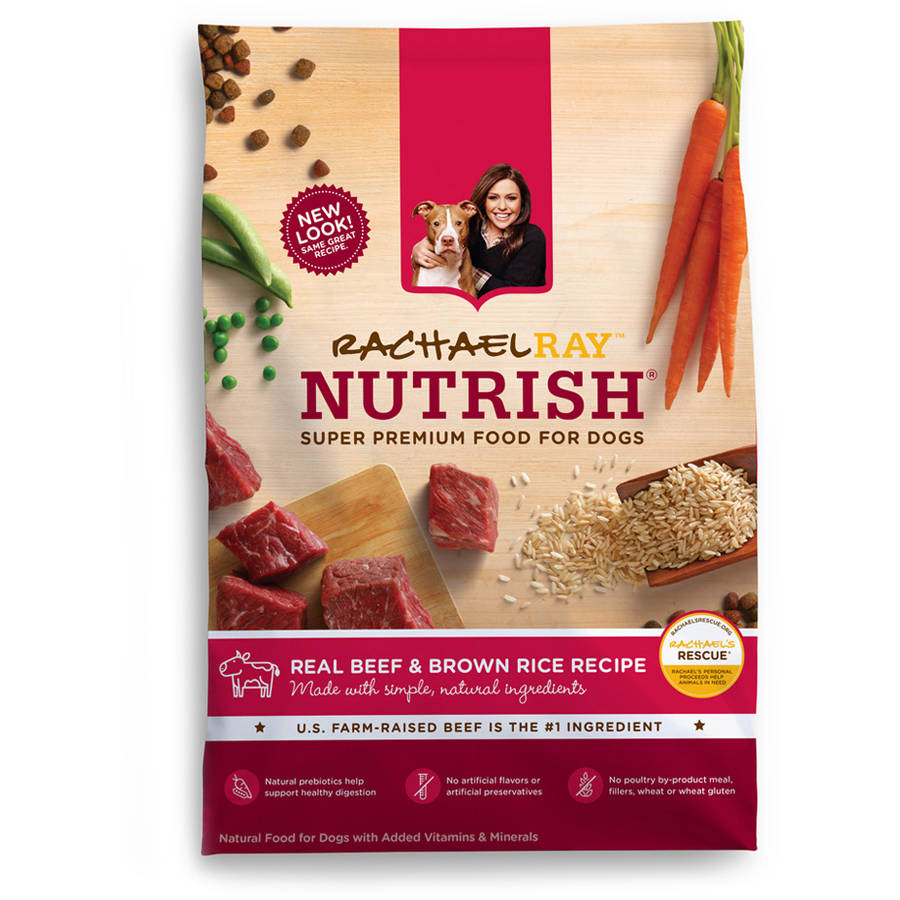Rachael Ray Nutrish Natural Dry Dog Food, Beef and Brown Rice Recipe, 14 lbs