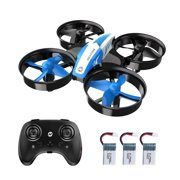 Holy Stone Mini Drone for Kids and Beginners RC Nano Quadcopter Indoor Small Helicopter Plane with Auto Hovering, 3D Flip, Headless Mode and 3 Batteries, Great Gift Toy for Boys and Girls,