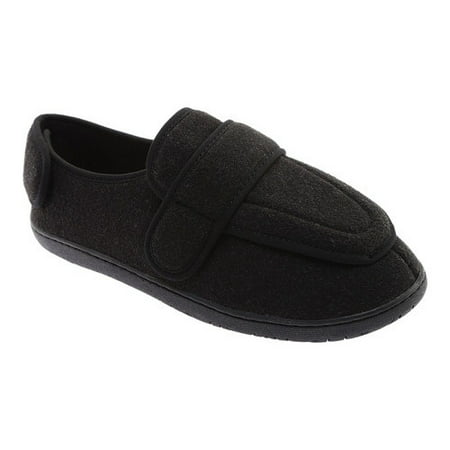 - Men's Foamtreads Physician Slipper - Charcoal Color - Rubber Sole