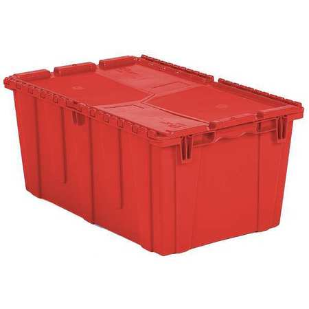 ORBIS FP243 Red Attached Lid Container, 2.3 cu ft, Red