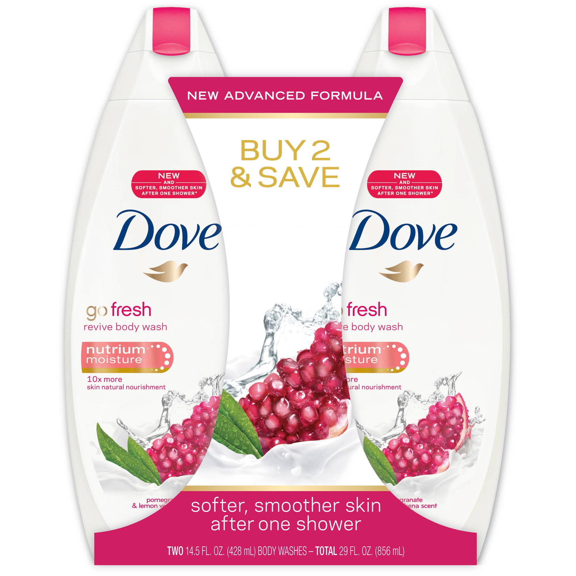 Dove go fresh Revive Body Wash, 14.5 oz, Twin Pack