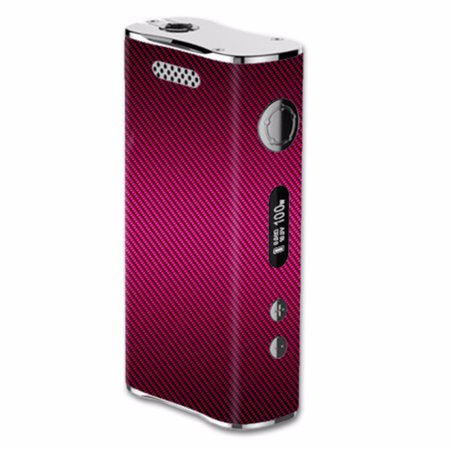 Skin Decal For Eleaf Istick 100W Vape Mod   Pink Black Carbon Fiber Graphite