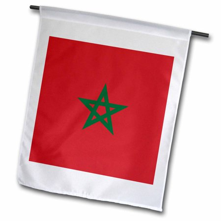 3dRose Flag of Morocco - Moroccan red with green pentagram star seal ensign - Africa African world country - Garden Flag, 12 by