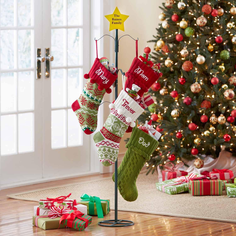 Metal Christmas Stocking Holder