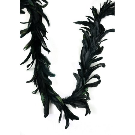 Shining Black Cocktail Feather Garland - 2 Yards