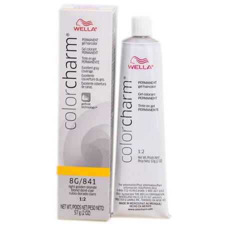 Wella Color Charm Gel Permanent Tube Haircolor - Color : #841 LT GOLDEN BLONDE