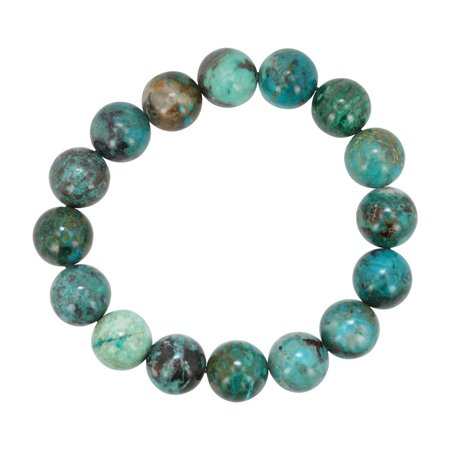 12Mm Chrysocolla Gemstone Energy Bracelet  7 Inch Length   6948S