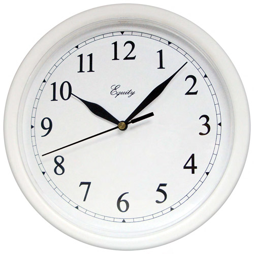 "Equity by La Crosse 10"" Wall Clock, White"