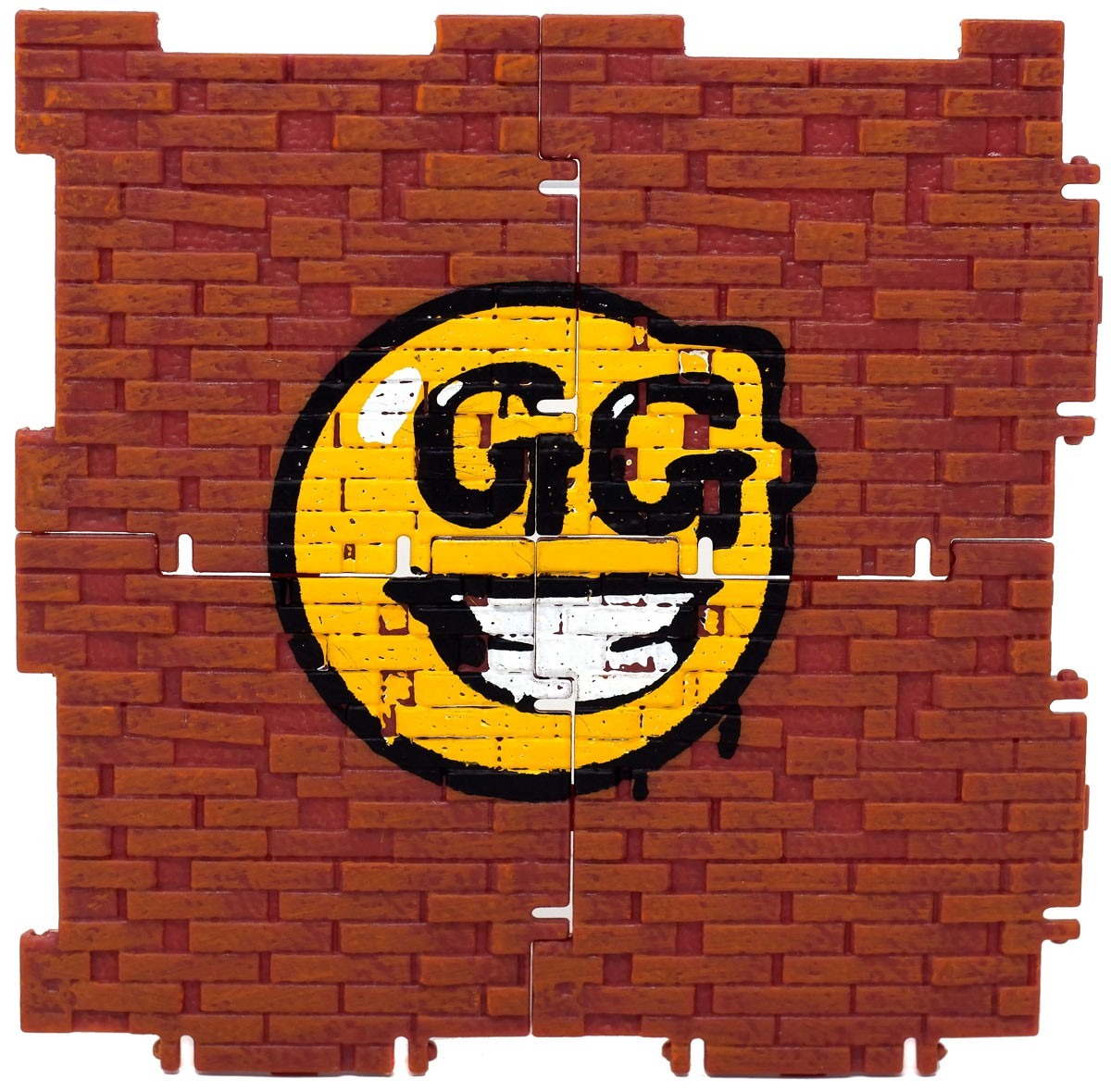 Fortnite Building Material with GG smiley face Figure Accessory [No Packaging]