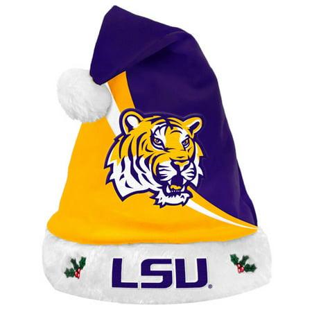 Forever Collectibles NCAA Swoop Logo Santa Hat, LouisianaStateUniversityTigers