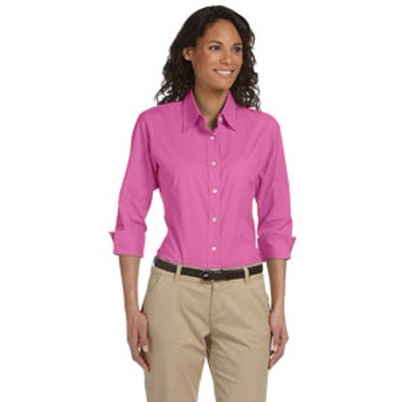 Devon & Jones Ladies' Perfect Fit™ 3/4-Sleeve Stretch Poplin Blouse Devon Aire Stretch Shirt