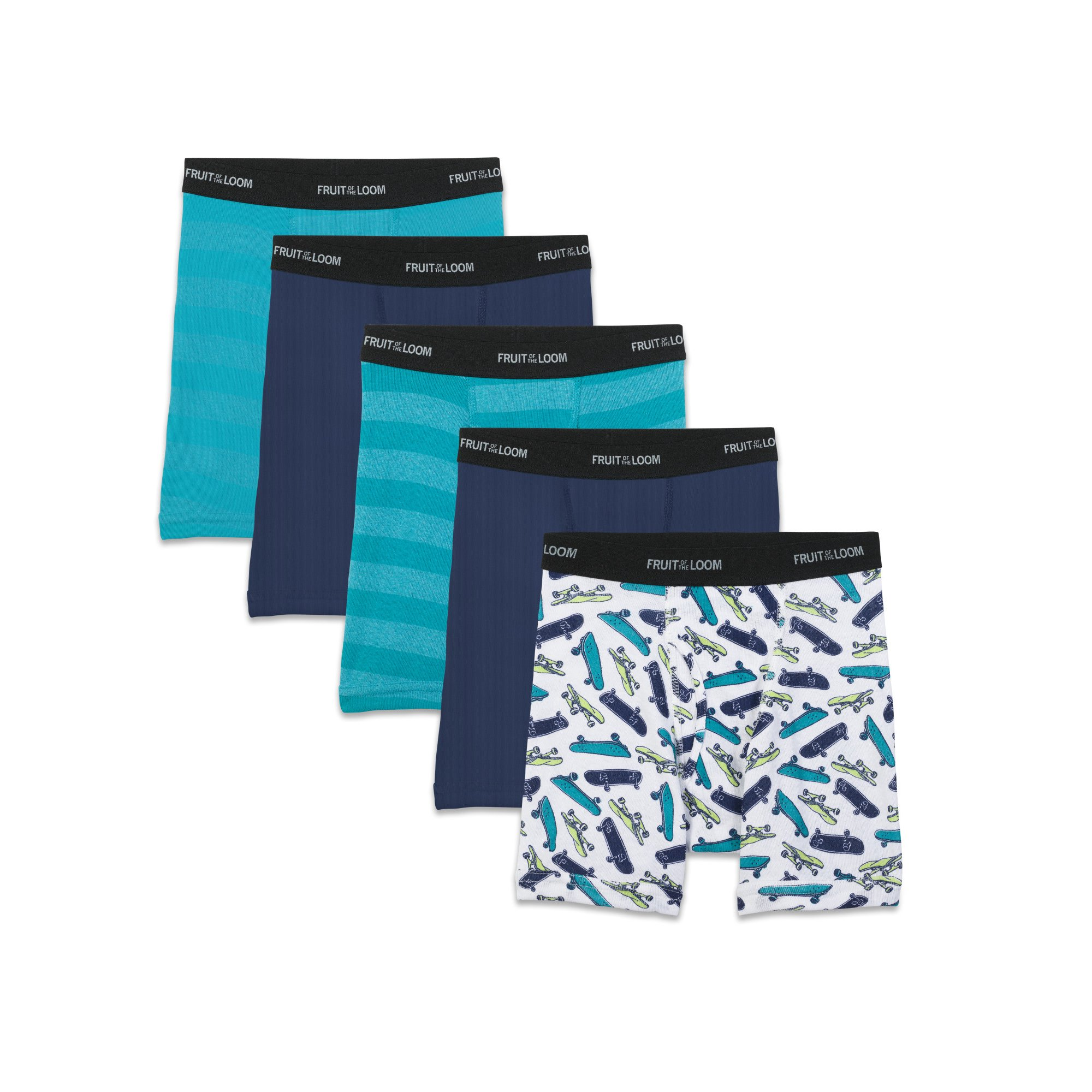 82f2bf731c00 Buy Boys' Sport Style Boxer Briefs, 5 Pack | Cheapest Fruit of the ...