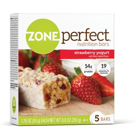 ZonePerfect Energy Bar, Strawberry Yogurt, 14g Protein, 5 Ct ()