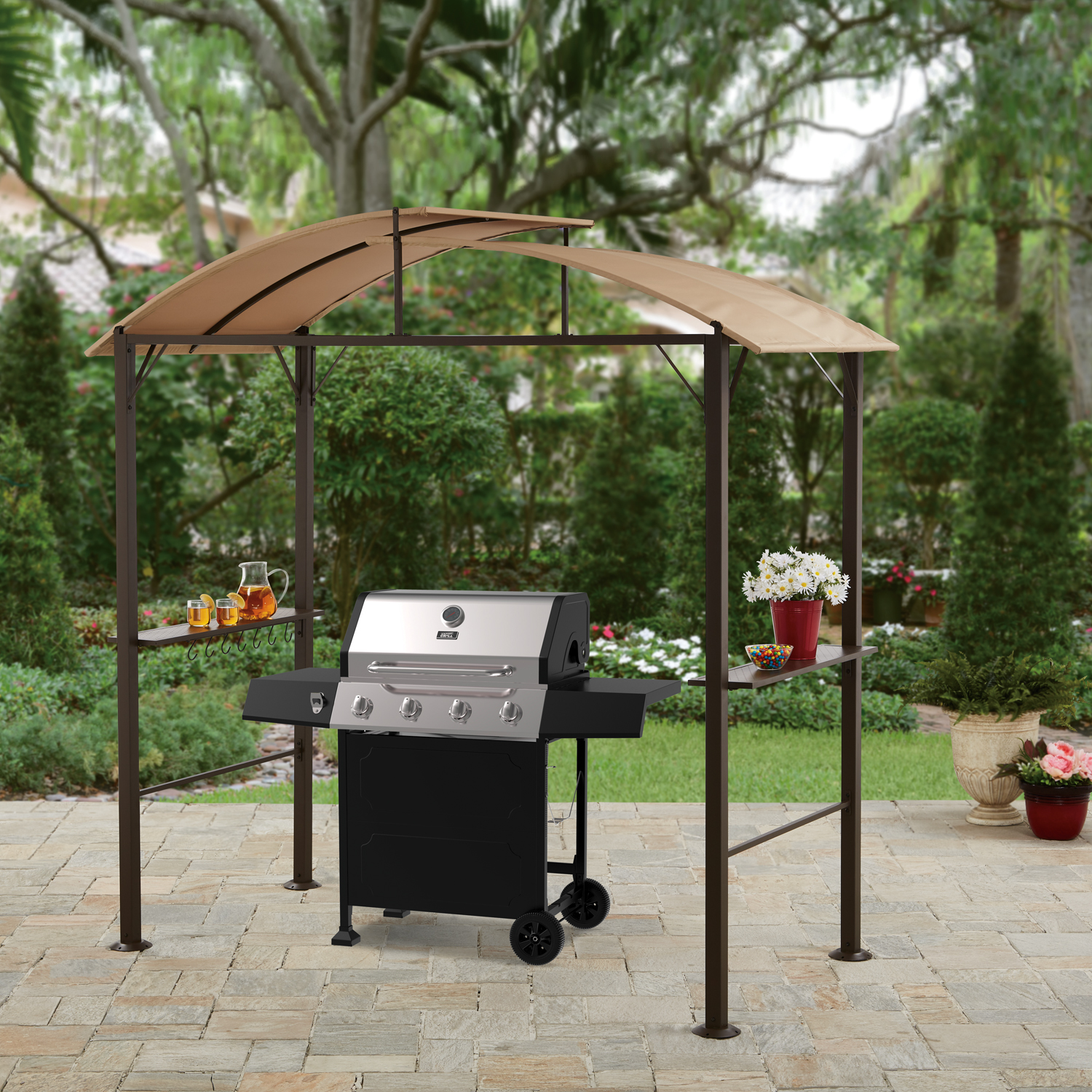 Better Homes and Gardens Lauderdale Curved Hardtop Grill Gazebo by SHANGHAI HE FENG INTERNATIONAL TRADE COLTD