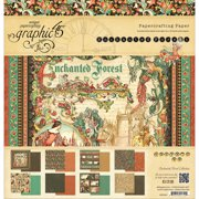 """Graphic 45 Double-Sided Paper Pad 12""""X12"""" 24/Pkg-Enchanted Forest, 3 Each Of 8 Designs"""