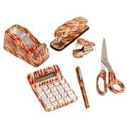 6 Set Tiger Animal Office Stapler Remover Scissors Tape Dispenser Calculator Pen