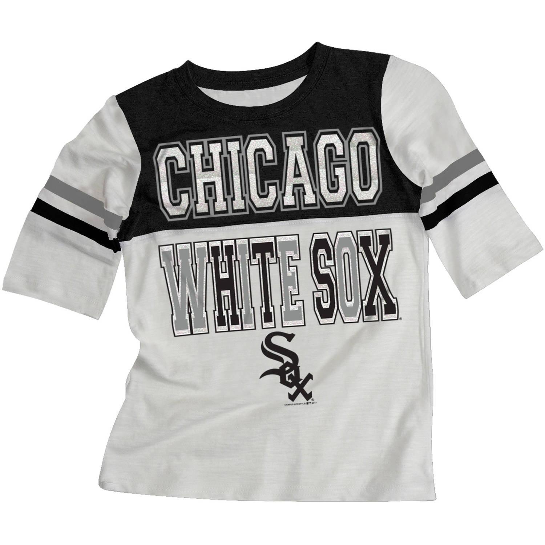 MLB Chicago White Sox Girls Short Sleeve White Graphic Tee