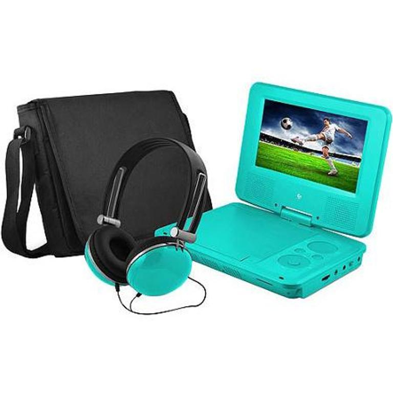"EMATIC 7"" Swivel Portable DVD Player with Headphones and ..."