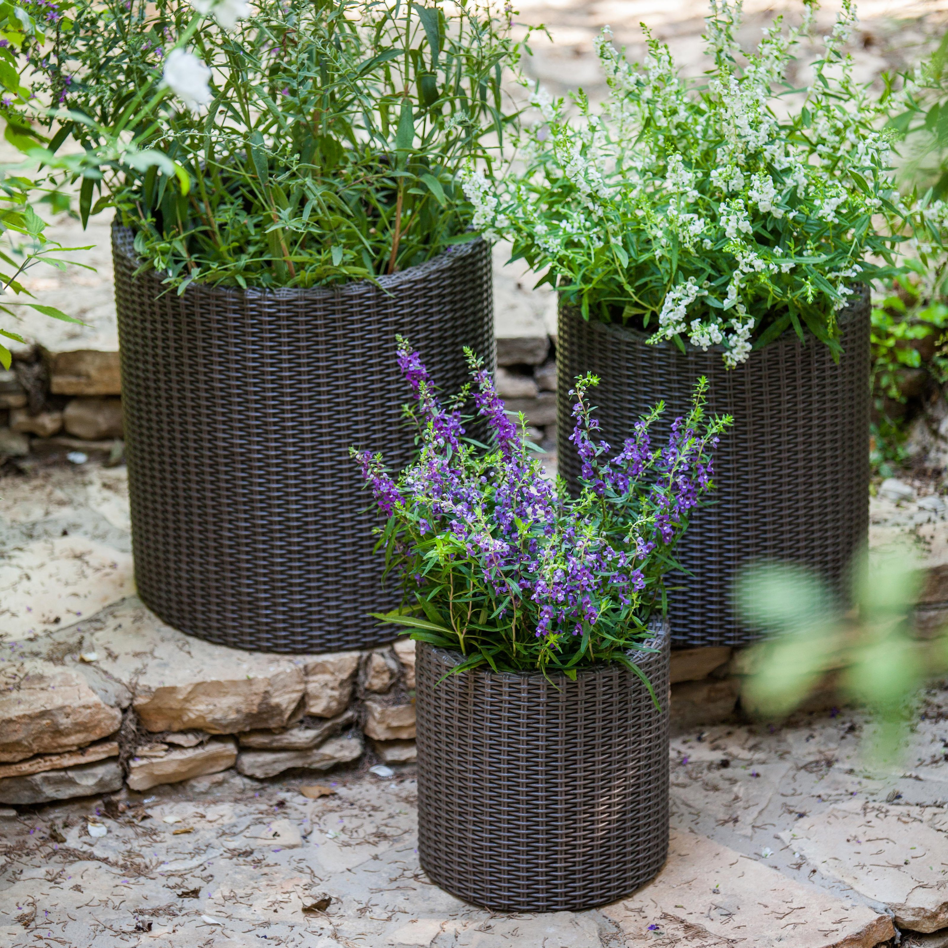 Cylinder Planter 3pc Set by Keter