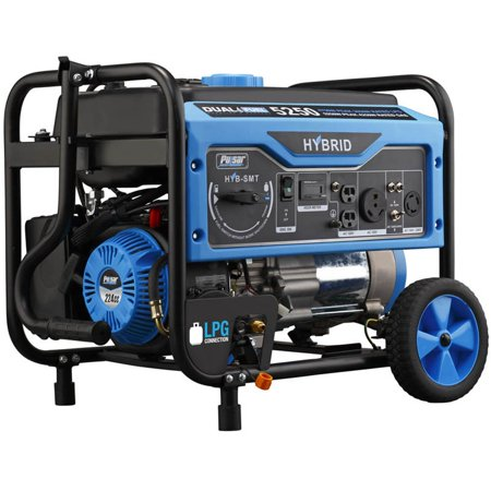 Pulsar 5250 Watt Portable Gasoline and Liquid Propane Generator with Outlets ()