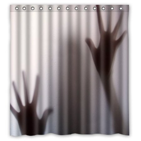Ganma Mysterious Scary and Man Silhouette Shadow Shower Curtain Polyester Fabric Bathroom Shower Curtain 66x72 inches - Man Shower