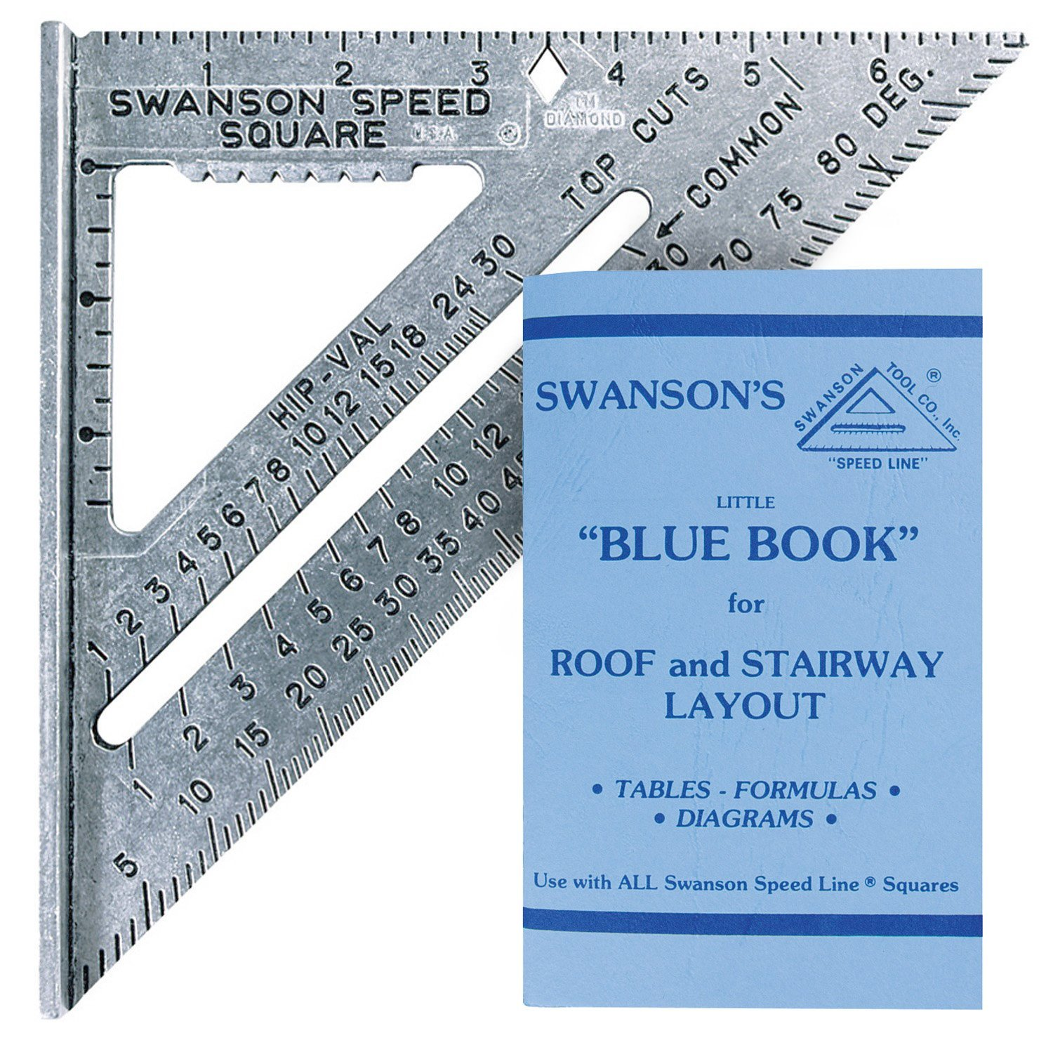 Swanson Tool S0101 7-inch Speed Square Layout Tool with Blue Book ...