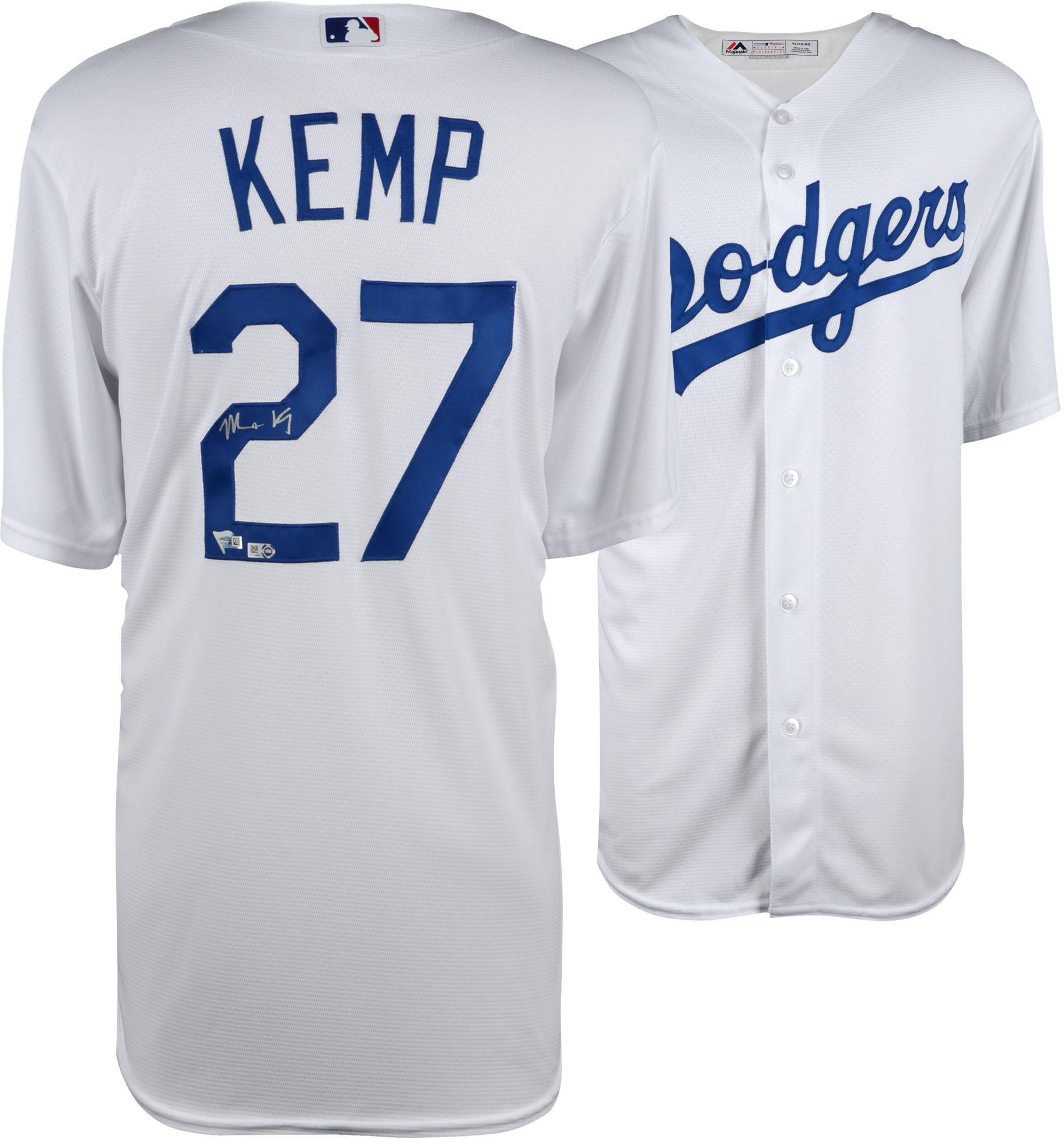 Matt Kemp Los Angeles Dodgers Autographed Majestic White Replica Jersey - Fanatics Authentic Certified