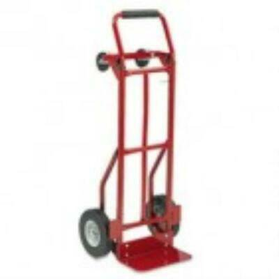 Safco Two-Way Convertible Hand Truck, 500-600lb Capacity, 18w x 51h, Red 3 Way Convertible Hand Truck