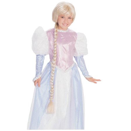 RAPUNZEL WIG blonde braid girls princess tangled halloween costume - Dumb Blonde Halloween Costume