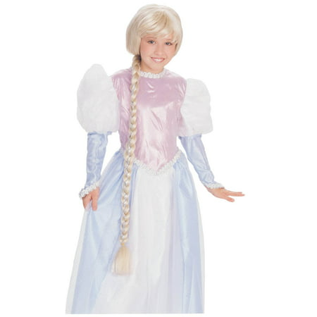 RAPUNZEL WIG blonde braid girls princess tangled halloween costume accessory