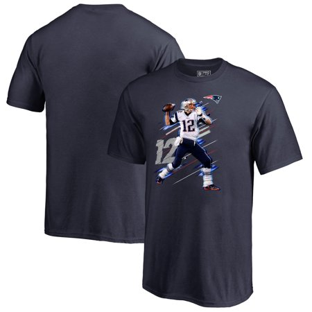 Tom Brady New England Patriots NFL Pro Line by Fanatics Branded Youth Fade Away Player T-Shirt - Navy